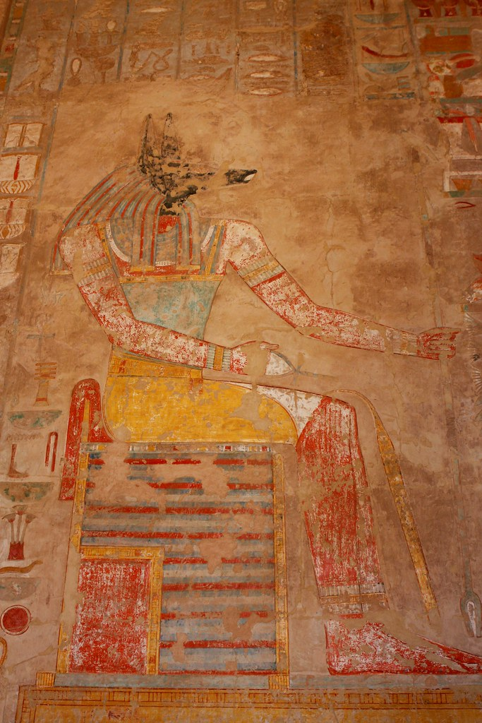 The God Anubis in the Temple of Hatshepsut